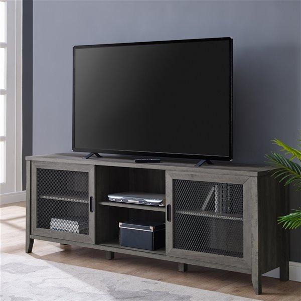 Walker Edison Industrial TV Cabinet - 70-in x 26-in - Grey