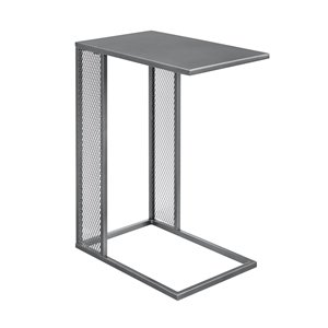 Walker Edison Industrial End Table - 12-in x 24-in - Grey/Gun Metal