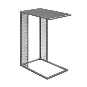 Walker Edison Industrial End Table - 12-in x 24-in - Grey/Gun Metal