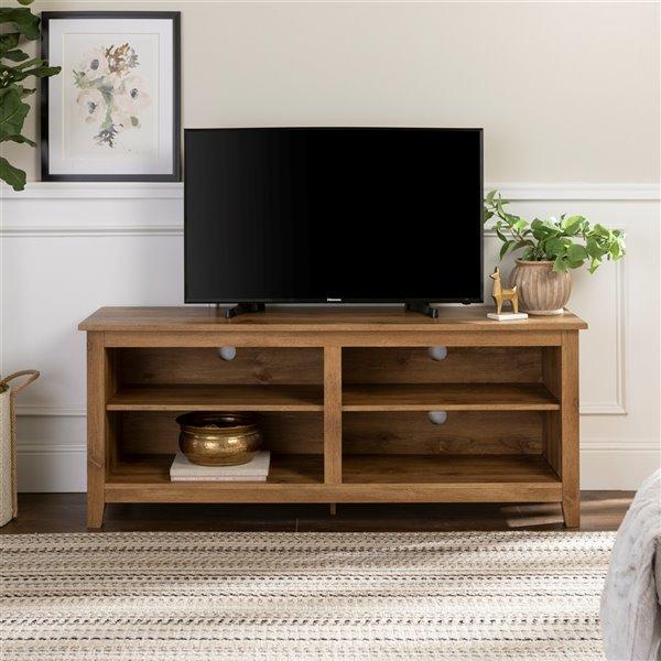 Walker Edison Casual TV Cabinet - 58-in x 24-in - Barnwood