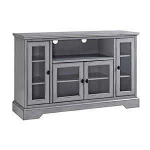 Walker Edison Modern TV Cabinet - 52-in x 33-in - Antique Grey