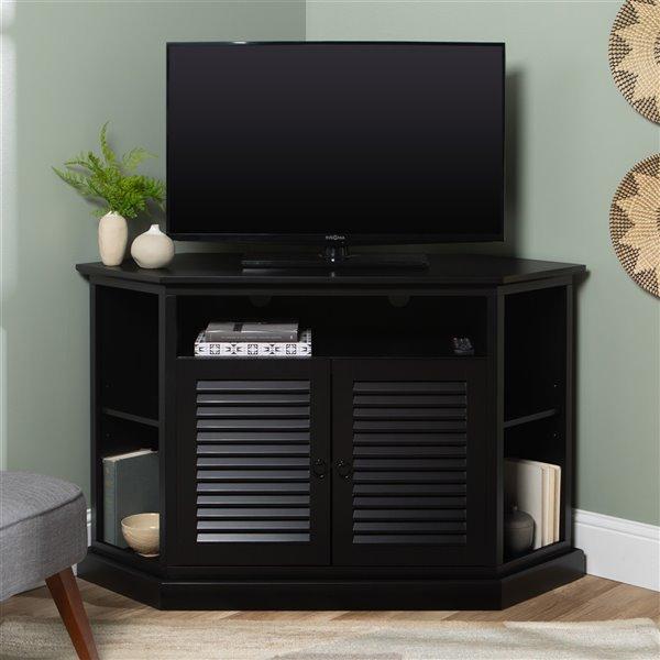 Walker Edison Modern Corner TV Stand - 52-in x 32-in - Black