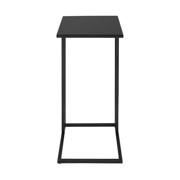 Walker Edison Industrial End Table - 12-in x 24-in - Black