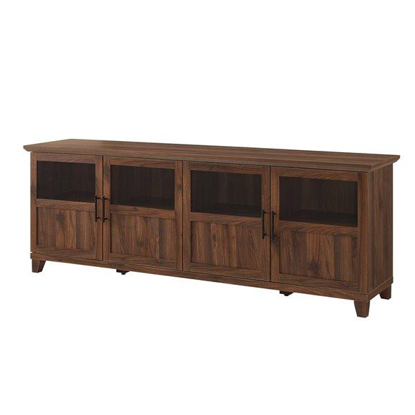 Walker Edison Modern TV Cabinet - 70-in x 25-in - Dark Walnut
