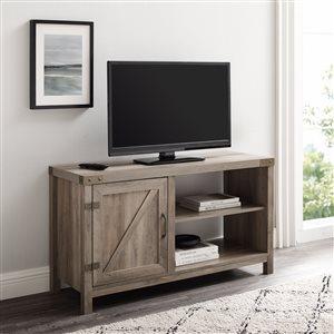 Walker Edison Farmhouse TV Cabinet - 44-in x 24-in - Grey