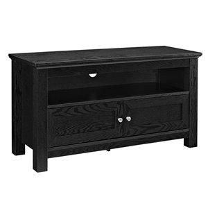 Walker Edison Casual TV Console Cabinet - 44-in x 23-in - Black