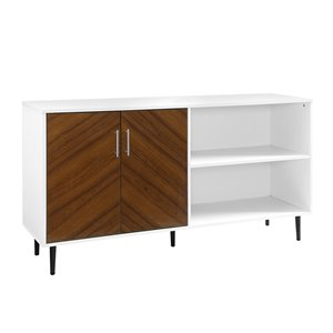 Walker Edison Mid-Century TV Cabinet - 58-in x 30-in - White