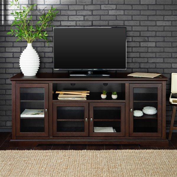 Walker Edison Casual TV Cabinet - 70-in x 30-in - Espresso