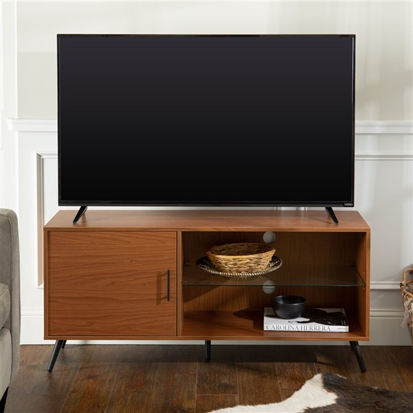 Walker Edison Mid-Century TV Cabinet - 52-in x 24-in - Black
