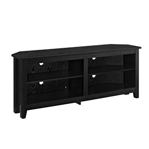 Walker Edison Casual Corner TV Stand - 58-in x 24-in - Black