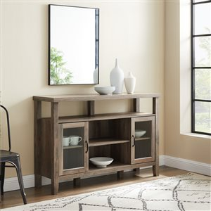 Walker Edison Rustic TV Cabinet - 52-in x 35-in - Grey