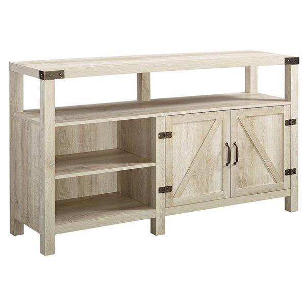 Walker Edison Farmhouse TV Cabinet - 58-in x 33-in - White Oak