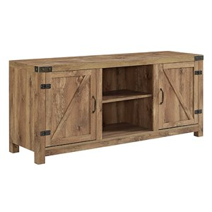 Walker Edison Farmhouse TV Cabinet - 58-in x 24-in - Barnwood