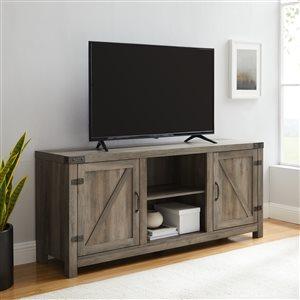 Walker Edison Farmhouse TV Cabinet - 58-in x 24-in - Grey