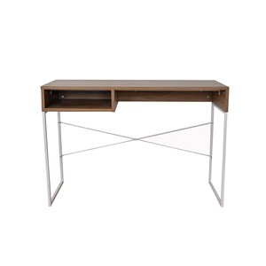 Bureau de la collection Milo JR Home Collection, 43 po, brun/blanc