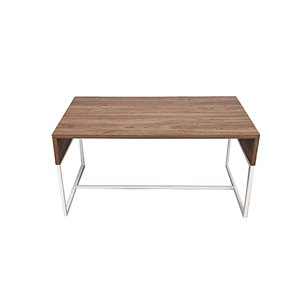 Table basse de la collection Milo JR Home Collection, 35,4 po, brun pâle/blanc