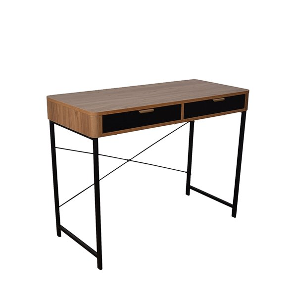JR Home Collection Maverick Collection Desk - 39-in - Brown/Black