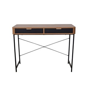 Bureau de la collection Maverick JR Home Collection, 39 po, brun/noir