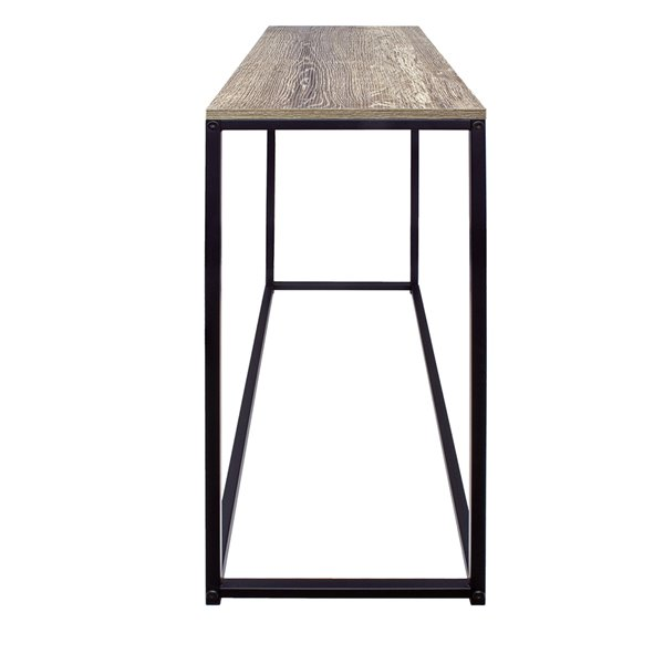 JR Home Collection Industrial Look Console Table - 31.5-in - Brown/Black