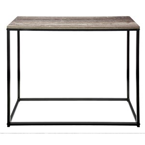 Table console d'allure industrielle JR Home Collection, 31,5 po, brun/noir