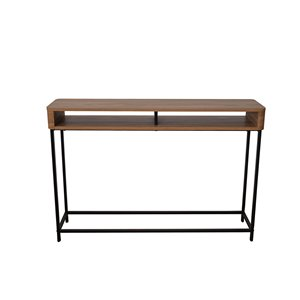 Table console de la collection Maverick JR Home Collection, 44 po, brun/noir
