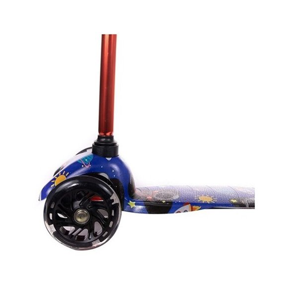 Rugged Racers Kids Scooter With Spaceship Print Design