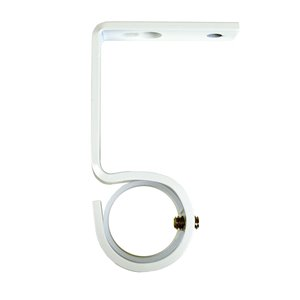 Versailles Home Fashions Universal Wall / Ceiling Bracket - 2.5-in - White - 2-pack