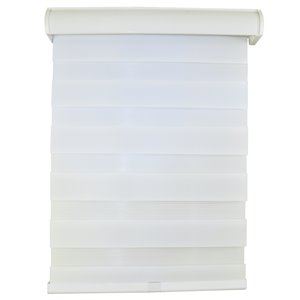 Versailles Home Fashions Zebra Cordless Sheer Weave Privacy Roller - 30-in x 64-in - Eggshell