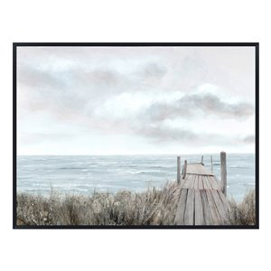 Oakland Living Wall Art - Sand Dunes Boardwalk - Black Frame - 47-in x 35-in