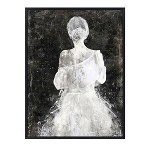 Oakland Living Wall Art - Girl Dress - Black Wooden Frame - 35-in x 47-in