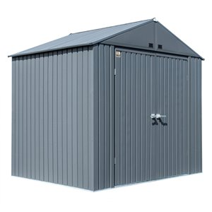 Abri de rangement en acier Arrow Elite de ShelterLogic, 8 pi x 6 pi, anthracite