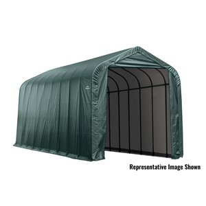 Garage à pignon ShelterCoat 16 x 40 pi, Vert