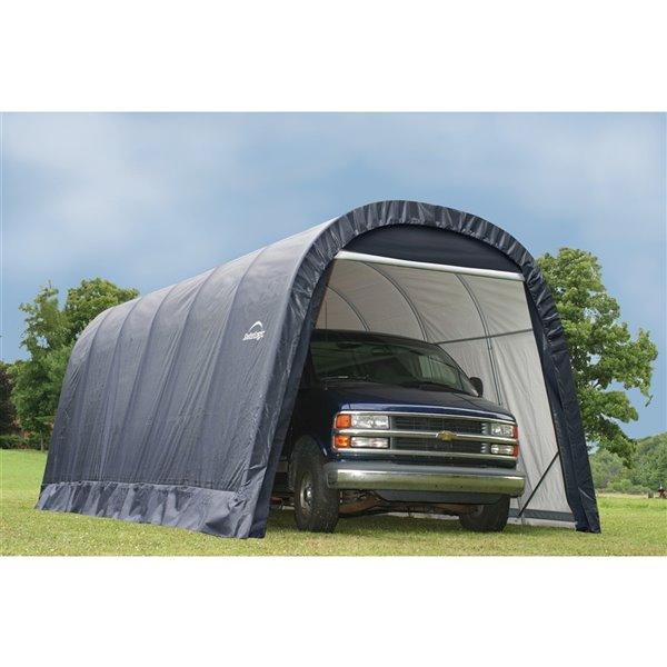 ShelterCoat 13 x 24 ft Garage Round Gray STD