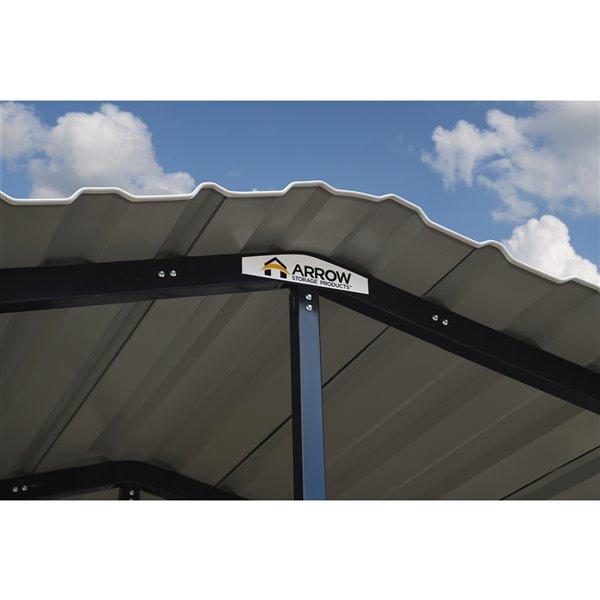 Arrow Carport, 14x29x14, Charcoal