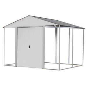 Ironwood Steel Hybrid Shed Kit 10 x 8 ft Cream