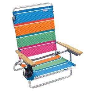 RIO Classique 5-Positions, chaise plage, bande