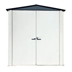 Spacemaker Patio Steel Storage Shed, 6x3, Flute Grey and Anthracite