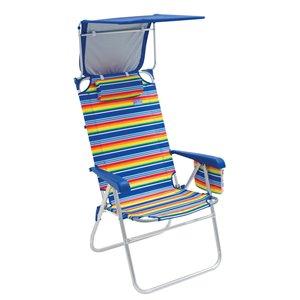 RIO Chaise Plage Hi-Boy avec Auvent
