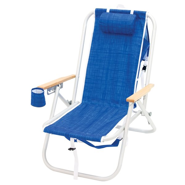 RIO Gear 4-Position Aluminum Backpack Chair - Blue