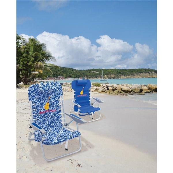 Margaritaville 4-Positions, bleu floral