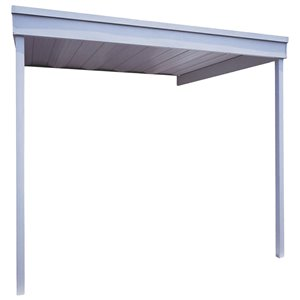 Attached Steel Carport/Patio Cover 10x10 ft