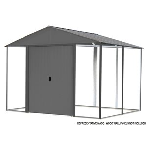 Ironwood Steel Hybrid Shed Kit 8 x 8 ft Antracite