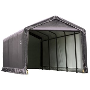 ShelterTube 12 x 25 ft. Garage - Gris - STD