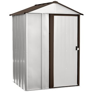 Newburgh 5x4 ft Steel Storage Shed Coffee/Eggshell