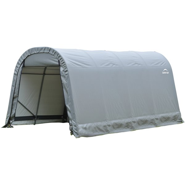 Rond Garage ShelterCoat 8 x 16 pi, Gris standard