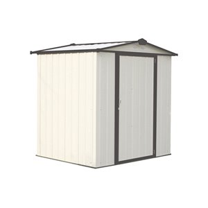 EZEE Shed Steel Storage 6x5 ft Galvanized Cr-Char