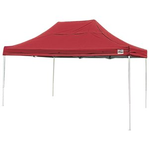 Pop-Up Canopy HD - Straight Leg 10 x 15 ft Red