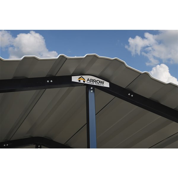 Arrow Carport, 14x33x14, Eggshell