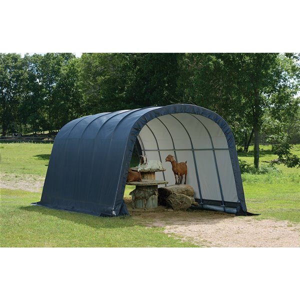 Run-In Shed-in-a-Box Storage Shelter 12x20x8 ft