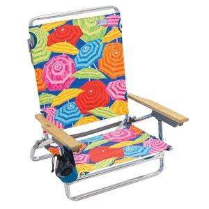 RIO Classique 5-Positions, à Plat, chaise plage